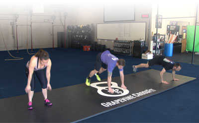 Vinyl Surface for Fitness Mats