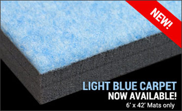 Light Blue Carpet Mats Now Available!