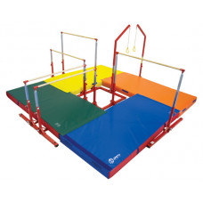 """Just for Kids 4-Station Circuit Complete with 4"""" Mats"""