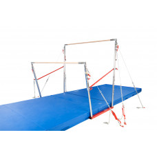 All-American Uneven Bars with Natural Fiber Rails and 6-ACSYS Cables